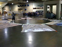 SDCC09: Booth Set Up! (SideshowCollectibles) Tags: booth setup banners sdcc sandiegocomiccon sideshowcollectibles sdcc09