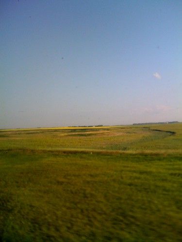 Morning in north Dakota  train 9 hrs behind.