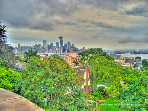 Seattle Skyline HDR