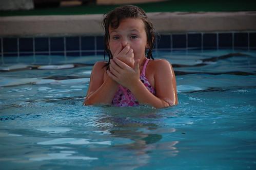 maddie swimmin'