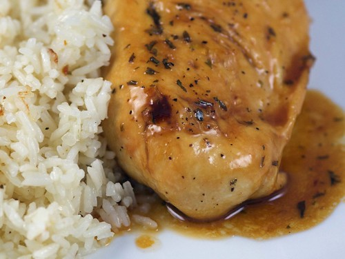 Apple Cider Chicken with Rice Pilaf