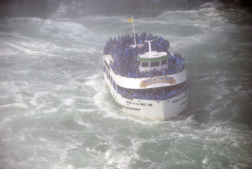 Maid of the Mist sailing into the Horse Shoe Falls