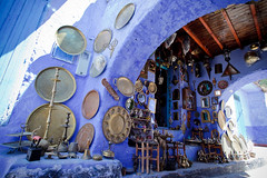 Morocco-090601-105 (Kelly Cheng) Tags: africa street travel color colour building heritage tourism sunshine shop horizontal architecture landscape handicraft daylight colorful day village outdoor culture vivid craft sunny nobody nopeople souvenir morocco medina chaouen colourful copyspace chefchaouen traveldestinations rifmountains pickbykc
