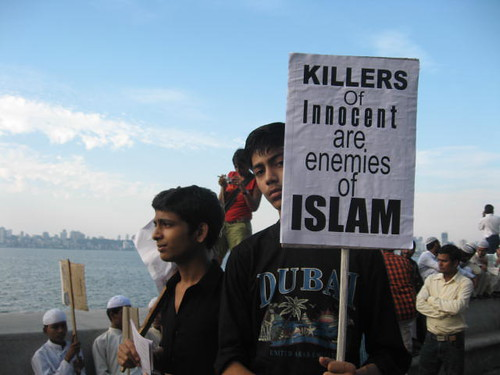Muslims protest terror attack on Mumbai by Anuradha Sengupta, on Flickr