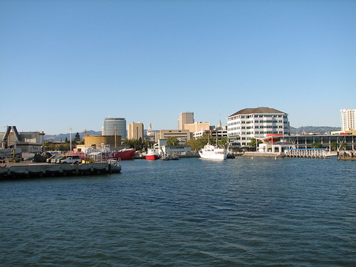 The ferry terminal in Oakland