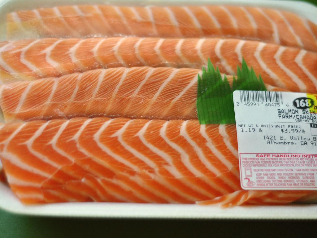 Salmon Skin ~ Raw