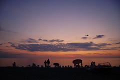 sunset gonio beach (Ioseb Berulashvili) Tags: sunset sea beach clouds plane georgia blacksea adjara gonio