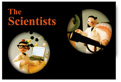 """Prof. John & Prof. John from my video """"Why Does the Sun Shine?"""" (hine) Tags: music art kids dvd video geek puppet handmade craft felt science theymightbegiants tmbg scientist stopmotion hine"""
