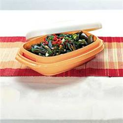 serving dish with colander