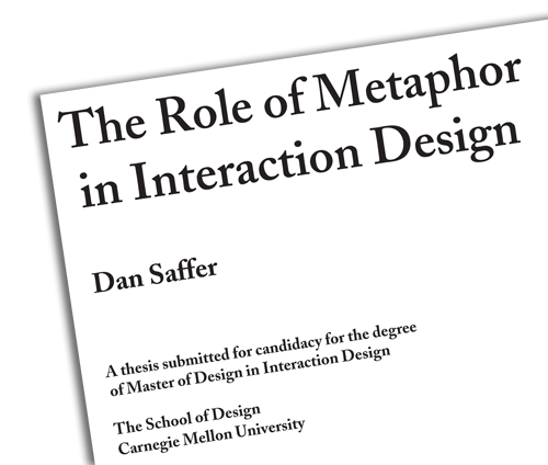 The role of Metaphor in Interaction Design