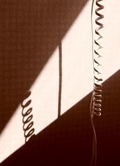 Allo? (Gatzella) Tags: shadows cable mur lignes ombres spia courbes