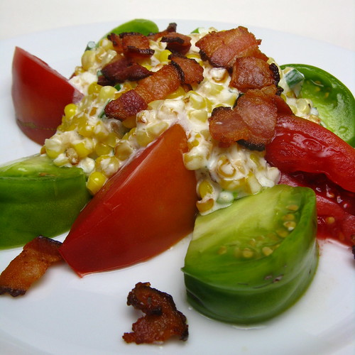 Tomato, Corn & Bacon Salad