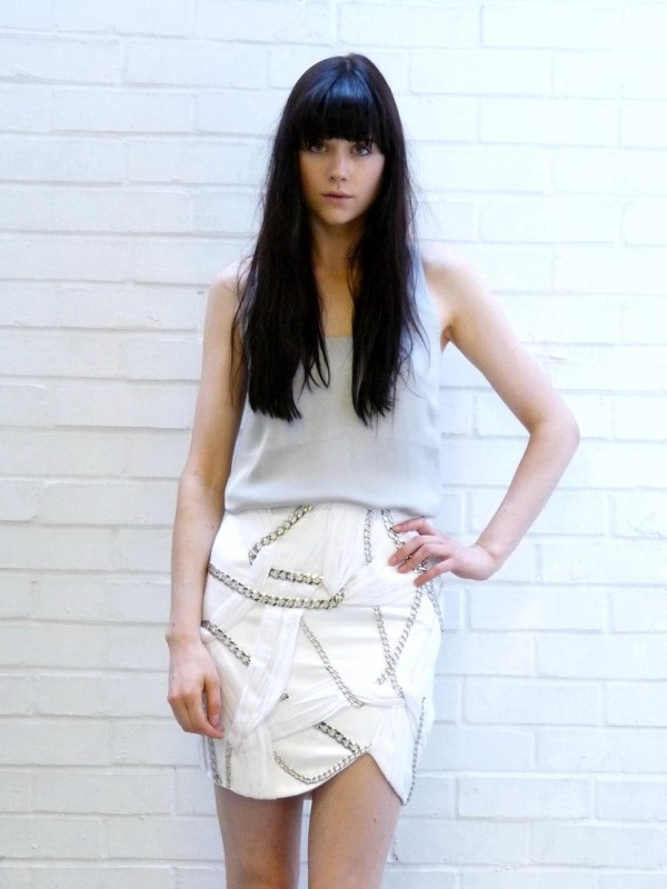 Afshin Feiz Summer 2009 chain skirt 1