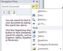 Microsoft Word 2010, New Navigation Menu