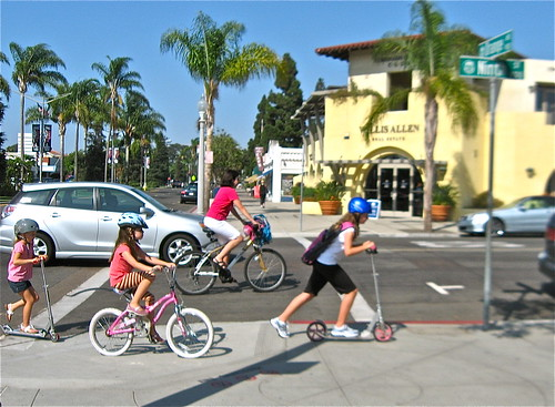 Multimodal kids. Photo by Flickr user Bike by the Sea.