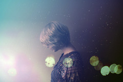 (Alexandra Hawley) Tags: blue light portrait color floral colors girl lady self pin dress purple allie profile young galaxy layer layers kimono edit exploratory hawley