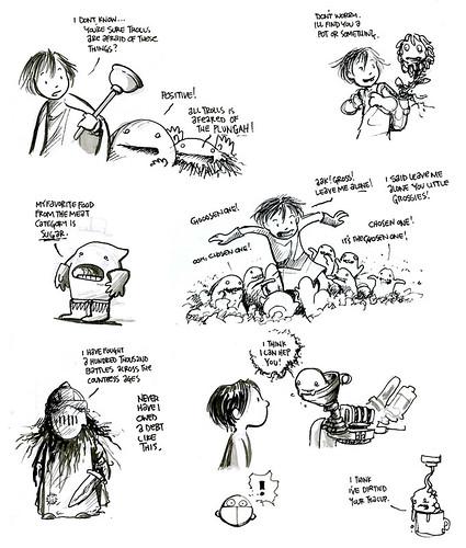 Zita the Space Girl Character Studies by Ben Hatke