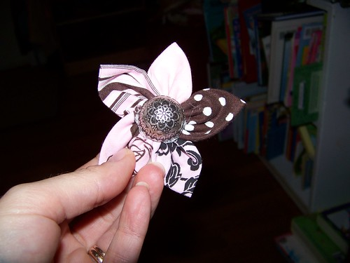 Flower pin to go with twirly skirt