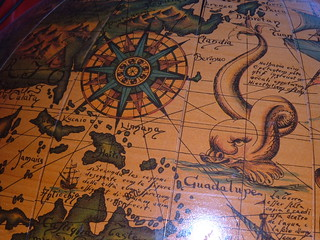 medieval map globe