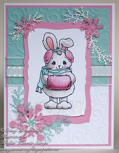Winter bunny front