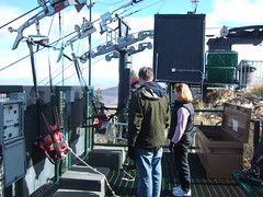 The zipline - Setting up