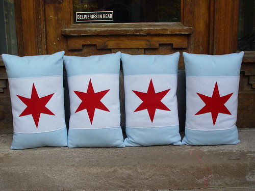 Chicago Flag Pillows