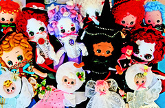 Delightmare Before Christmas (boopsie.daisy) Tags: christmas new holiday color halloween colors angel vintage pose colorful dolls handmade witch vampire ooak batch inspired plush homemade angels witches vampires boopsiedaisy