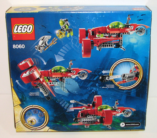LEGO 8060 Atlantis - Typhoon Turbo Sub - Box Back