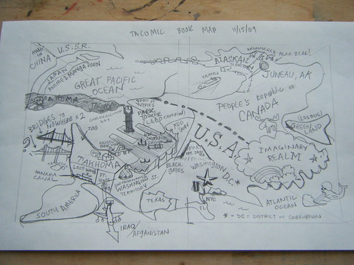 Tolkien-Style Map of Tacoma for Tacomic Book