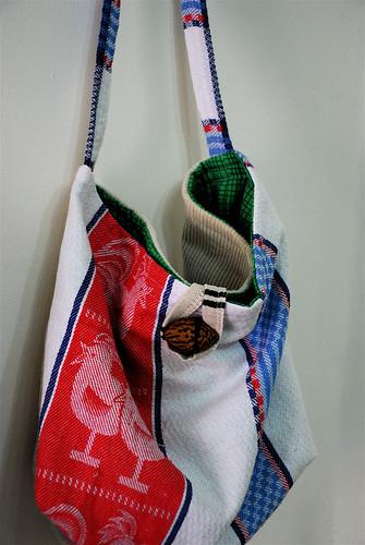 linen bag :: roosters
