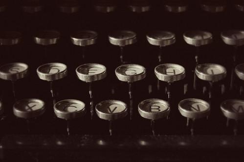 312:365 Typewriter keys