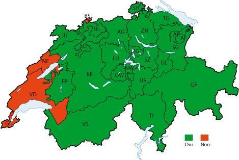 57,5% des Suisses contre les minarets