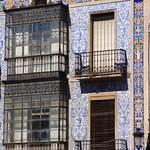 Cáceres: casa azulejos san juan detalle