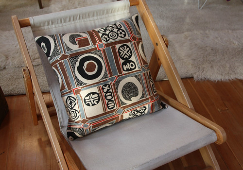 Vintage Japanese Blockprint pillow