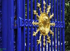 Iron gate, Stockholm (Roy Prasad) Tags: travel blue vacation slr digital lens gold nikon gate europe zoom nikkor dslr prasad dx d300 blueandgold 18200mm bluegold wroughtirongate royprasad