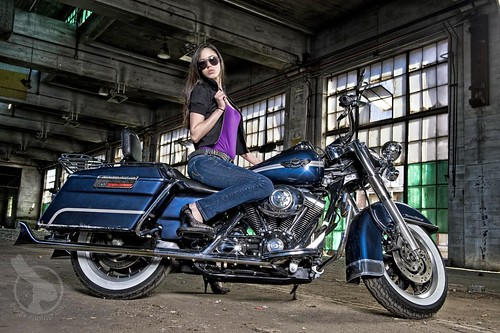 Natasha on the Harley