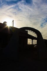 Setting Sun (scottrysmith) Tags: sun restaurant terlingua siloulette