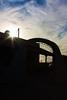 Setting Sun (scottrysmith) Tags: sun restaurant terlingua siloulette