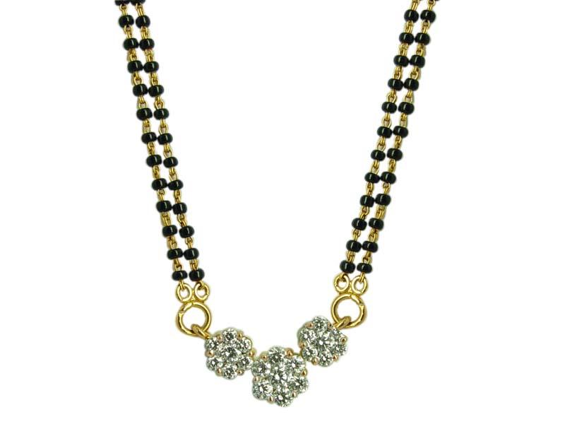 Indian jewellery nallapusalu black beads with diamond pendants indian jewellery nallapusalu black beads with diamond pendants aloadofball Choice Image