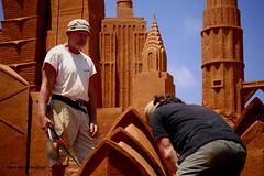Sand Sculptors (Adam Dimech) Tags: sculpture man men art beach sand artist australia melbourne victoria exhibition artists worker frankston foreshore sculptors greatmomentsinhistory upcoming:event=5020446