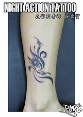 (ping's tattoo) Tags: baby tattoo angel angle eagle lock wing devil  rosemallow fringedhibiscus