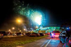 (Sienar) Tags: trees sky game sports night photography lights spring nikon bright florida fireworks miami stadium smoke wideangle tokina hdr highdynamicrange sunlife marlins d300 2011 28 28