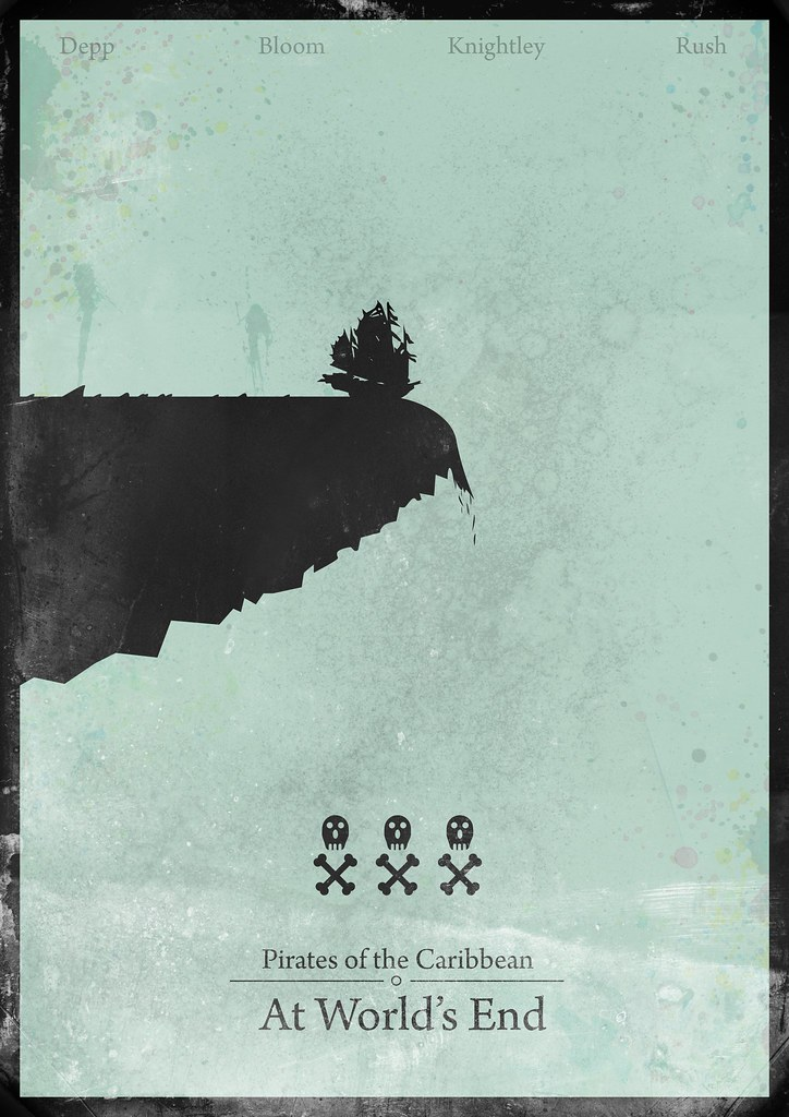 Pirates of the Caribbean : At World's End - minimalist poster