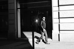Missed the Shot? (Ivan Rigamonti) Tags: zurich streetphotography monochrome man