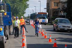 construction detour on N. Vancouver-4