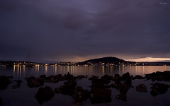 Dusk Water (Harlz_) Tags: longexposure water clouds canon boats lights australia nsw gosford brisbanewater eos50d