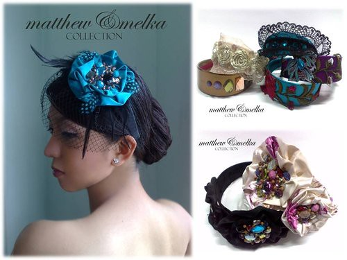Matthe & Melka headpieces