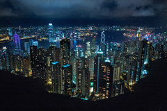 City At Night (BarneyF) Tags: city urban building water night skyscraper hongkong lights cityscape harbour peak victoria hong kong victoriapeak superaplus aplusphoto