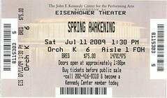 Spring Awakening ticketstub