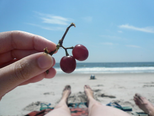 Grapes on the beach